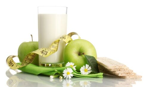 Kefir with fruits for weight loss
